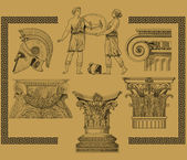 Old greek set illustration — Stock Photo