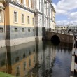 Stock Photo: River channel in Saint-Petersburg. Spring