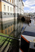 River channel in Saint-Petersburg. Spring — Stock Photo