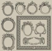 Conjunto de marcos de ilustración — Foto de Stock