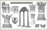 Old greek set illustration — Stockfoto