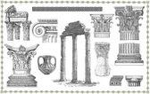 Oude griekse instellen illustratie — Stockfoto