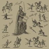 Knight illustration — Stock Photo