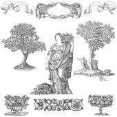 圆形徽章图 — 图库照片