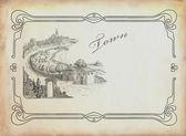 Stare miasto ilustracja — Zdjęcie stockowe