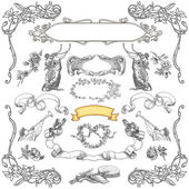 Cartouche set illustration — Stockfoto