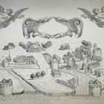 Old town illustration — Stock Photo