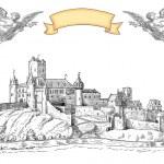 Old town illustration — Stock Photo #21893387