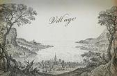 Old village illustration — Stock Photo