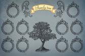 Family tree illustration — Stock Photo
