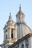 Rome - Piazza Navona and Santa Agnese in Agone church — 图库照片