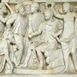 Ancient roman bas-relief of the Museum of Vatican. Rome, Italy — Stock Photo