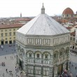 View of the Baptistery and the city of Florence — Stock Photo