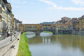 View of the Ponte Vecchio bridge in Florence. Italy — Stock Photo