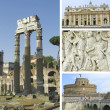 Collage of landmarks of Rome, Italy — Stock Photo #28060337