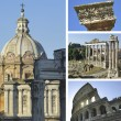 Collage of landmarks of Rome, Italy — Photo