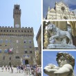Collage of landmarks of Florence, Italy — Stock Photo
