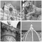 Colagem de marcos, florença, toscana, itália — Foto Stock