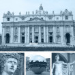 Collage of landmarks, Rome, Italy — Stock Photo