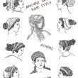Stock Photo: Ancient greek hair style
