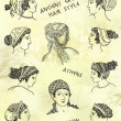 Ancient greek hair style — Stock Photo #28801239
