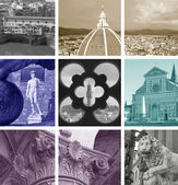 Collage of landmarks, Florence, Italy — Stock fotografie