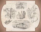 Vine label — Stock Photo