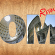 Rome letters — Stock Photo