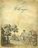 Village illustration — Stock Photo