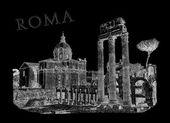 Ilustração de vista de roma — Fotografia Stock