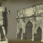 Roman emperor Augustus Caesar statue. Rome — Stock Photo #35006251