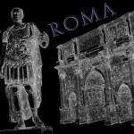 Roman emperor Augustus Caesar statue. Rome — Stock Photo #35007289
