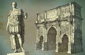 Roman emperor Augustus Caesar statue. Rome — Stock Photo