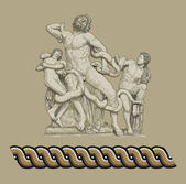 Antique statue - Laocoon illustration — Stock Photo