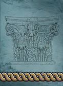 Old greek column — Stock Photo