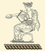 Old greek goddess — Stock Photo