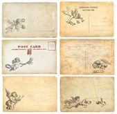 古いポストカード — ストック写真