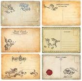 Cartões postais antigos — Foto Stock