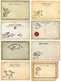 Alte ansichtskarten — Stockfoto