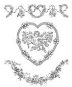Ilustracja aniołów — Zdjęcie stockowe