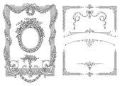 Old frame illustration — Stock Photo