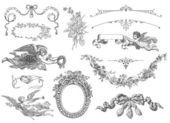 Cartouches set illustration — Stock Photo