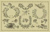 Vintage cartouches — Stock Photo