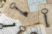 Vieja llave de postales — Foto de Stock