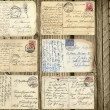 Old postcards set — Stock Photo