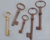 Antique golden key — Stock Photo