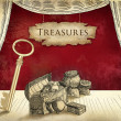 Pirate treasures — Stock Photo