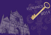 Florence view illustration — Stock Photo