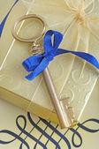 Złoty klucz — Zdjęcie stockowe