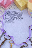 Sweet memories background — Stockfoto